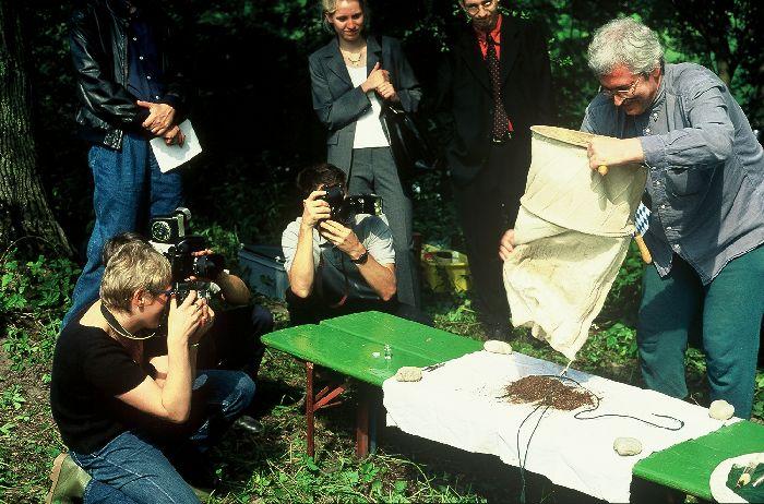Pressetermin ökologische Erfolgskontrolle 1998 mit Remigius Geiser